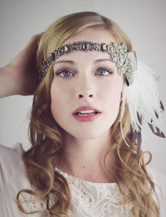 Cocoa And Ivory Ostrich Feather Flapper Headband