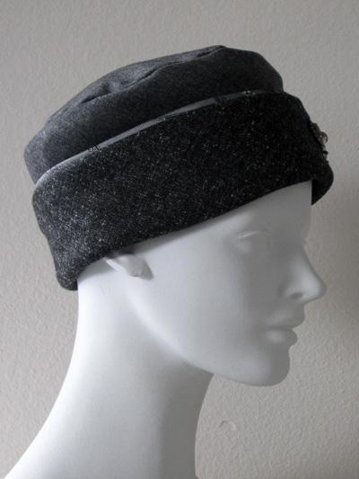b7a1c35dd0144 Pillbox Hat In Charcoal Gray Wool